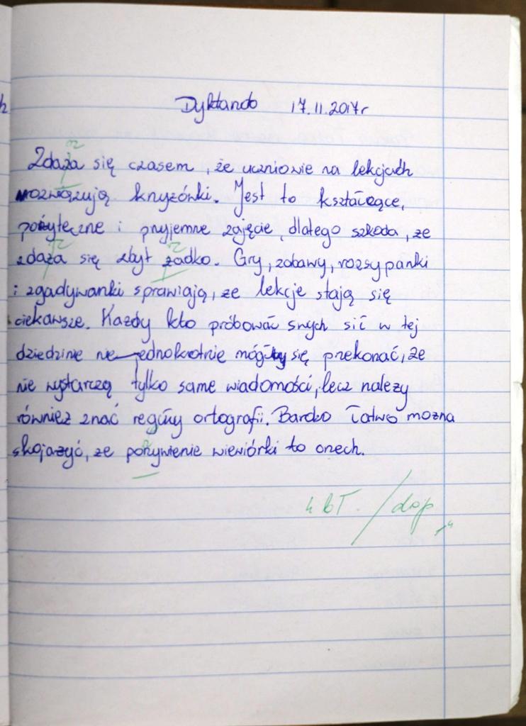 ortografia klasa 5 testy